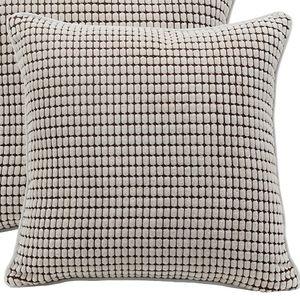 ⭐NEW⭐ - Cream/Coffee Corduroy Pillow - 18X18